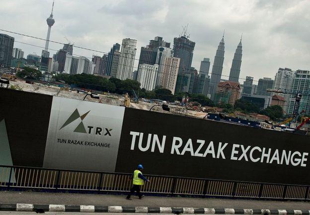 Hoarding with the words Tun Razak Exchange