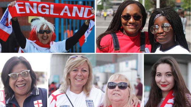 female England football fans
