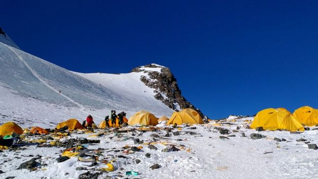 Everest camp Four also known as South Col