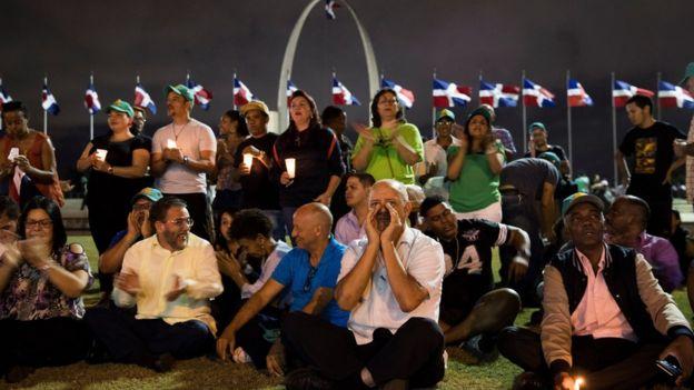 Protesta en República Dominicana