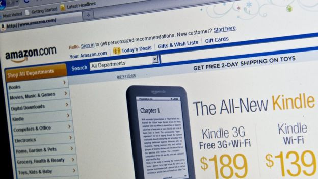 web de Amazon