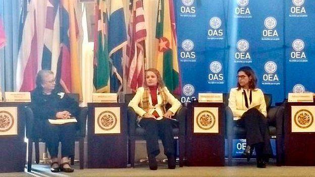 Marcela Loaiza en la OEA
