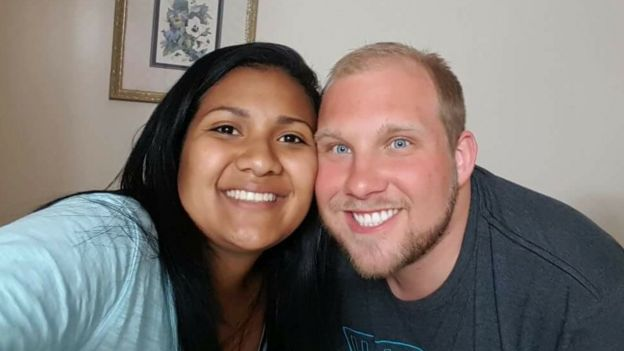 Joshua Holt, 25, and his wife Thamy Candelo pictured together