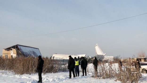 Accidente de avión en Kazajistán.