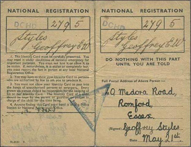 1939年发行的一张身份证