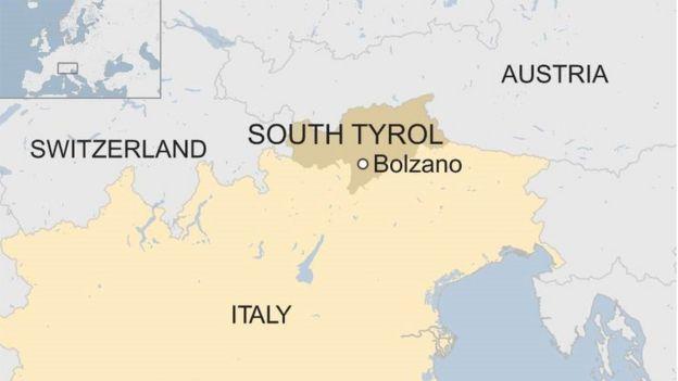 Tirol Italy Map.Austria Italy Passport Row Tests Europe S Populist Allies Bbc News