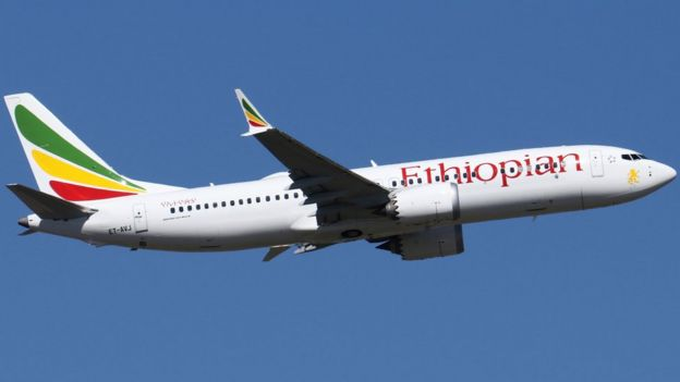 صورة حقيقية للطائرة الإثيوبية المنكوبة