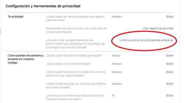 Configuración de privacidad