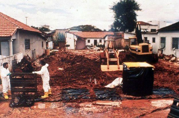 Casa demolida por el accidente de Goiânia.