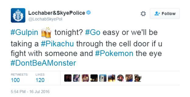 Pokemon Go: Police Scotland gotta tweet 'em all - BBC News