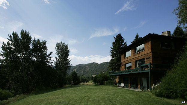 Garden view of Ernest Hemingway's Idaho house