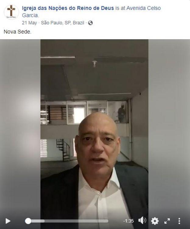 Romualdo Panceiro em vídeo gravado em maio