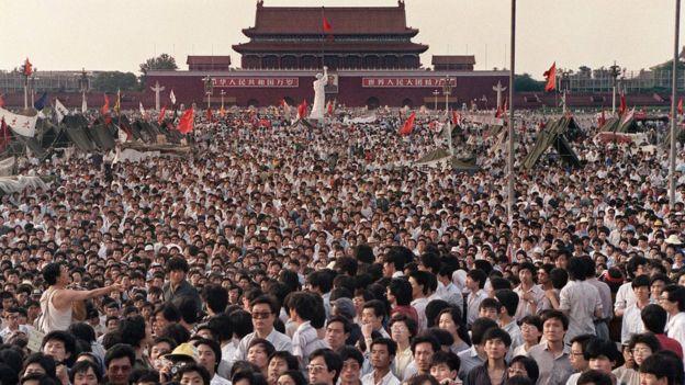 Протест на площади Тяньаньмень - архивное фото