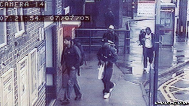 CCTV images of 7 July 2005 bombers