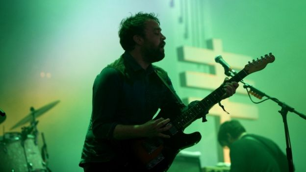 Frightened Rabbit perform at Glastonbury in 2013