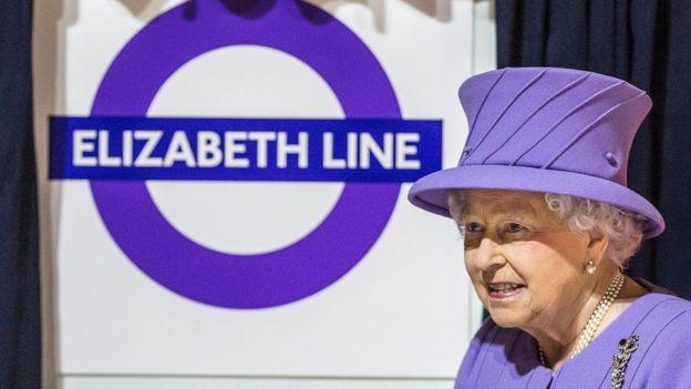 英女王伊麗莎白二世在倫敦伊麗莎白線鐵路命名典禮上