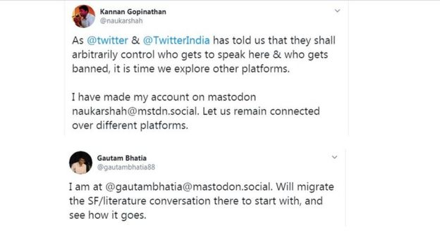 Indian Twitter users announcing they are going to Mastodon