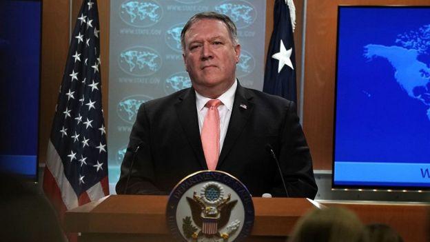 Risultati immagini per مایک پومپئو، وزیر خارجه آمریکا پایانی بر اعطای معافیت از تحریمها برای خریداران نفت ایران گذاشته است.