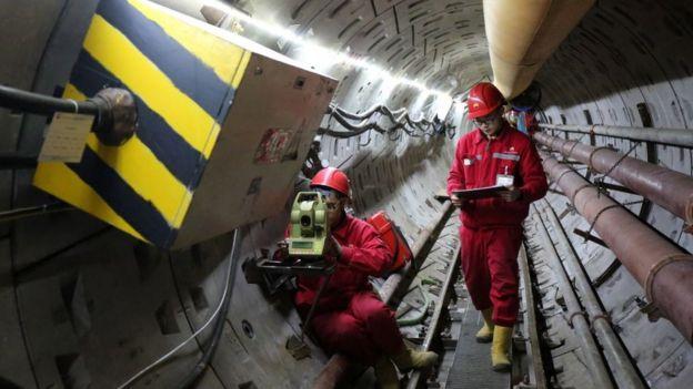 Gasoduto Força de Sibéria em construção