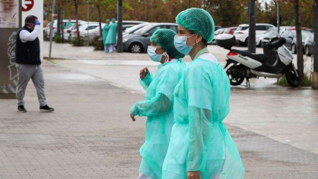 Trabajadoras de la salud en España.