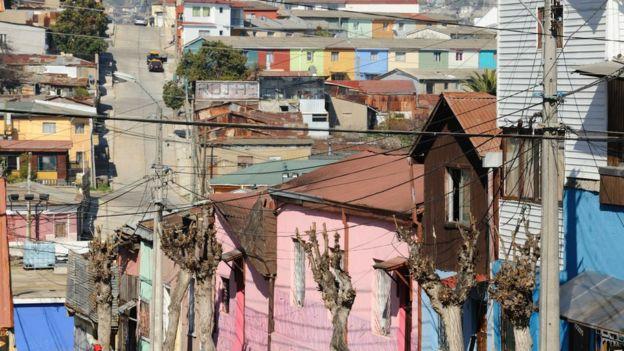 Un barrio humilde de Viña del Mar.
