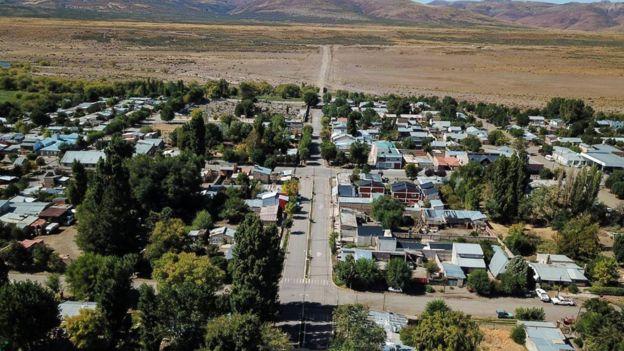 Imagen aérea de Loncopué