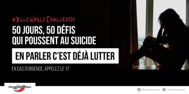 Aviso da polícia francesa