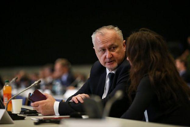 Kepala Badan Anti-Doping Rusia (Rusada) Yuri Ganus menghadiri Konferensi Dunia tentang Doping dalam Dunia Olahraga 2019 yang diselenggarakan Wada di Polandia, 6 November 2019