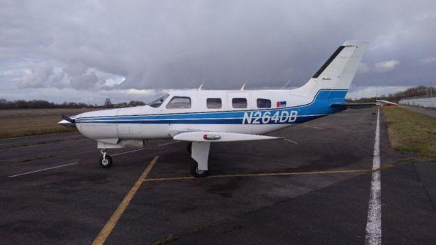 El avión Piper Malibu en el que viajaba Emiliano Sala.