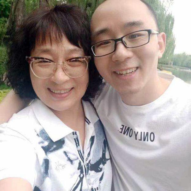 Li Jingzhi and her son Mao Yin (Jia Jia)