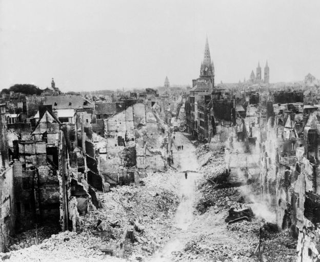 Caen after liberation