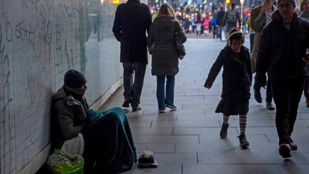 Morador de rua em Londres