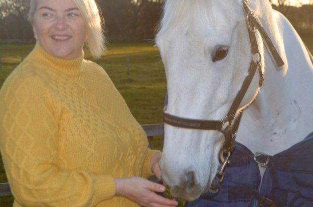 Kelly Ann Alexander with her horse Aliyana