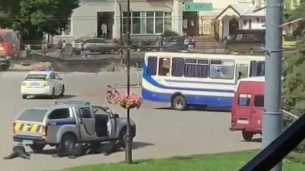 """Фото захваченного автобуса с луцкого сайта """"Конкурент"""""""