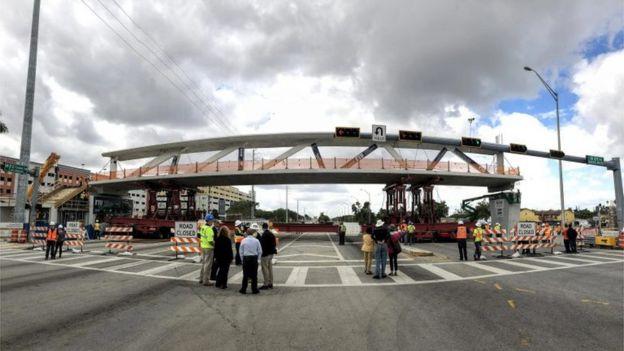 Vista del puente el sábado 10 de marzo. (Foto: Universidad Internacional de Florida)