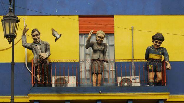 Munecos de Peron, Evita y Maradona