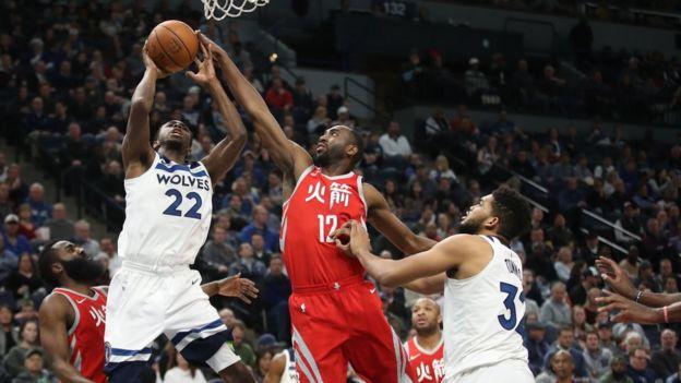 Un partido de la NBA