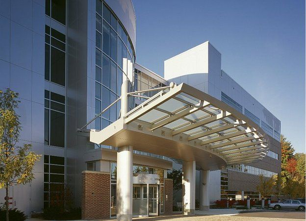 This image shows the exterior of Exeter Hospital in Exeter, New Hampshire.