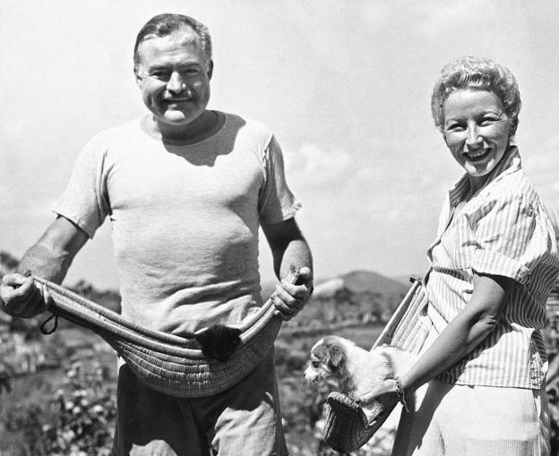 ارنست همینگوی و همسر چهارمش مری ولش