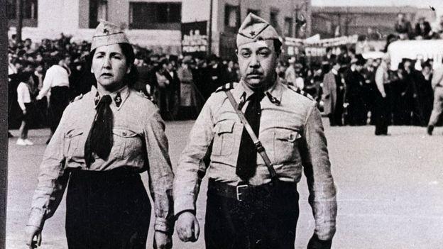 Desfile socialista en Chile en 1939