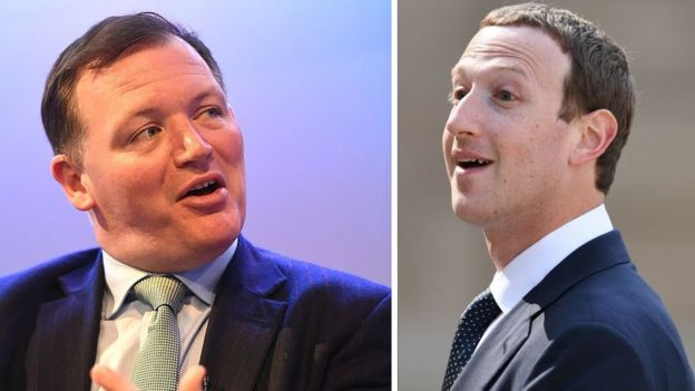 Damian Collins and Mark Zuckerberg