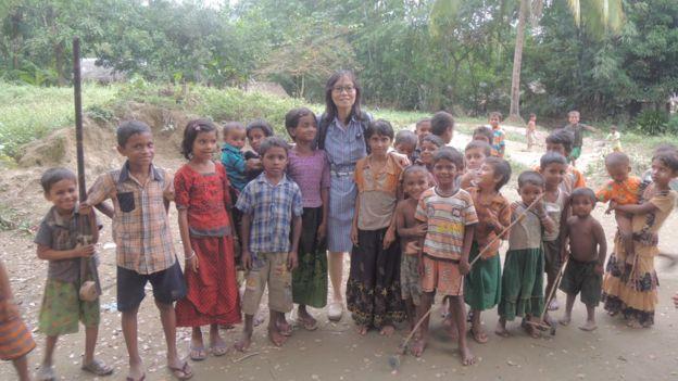 張翠容於羅興亞難民營
