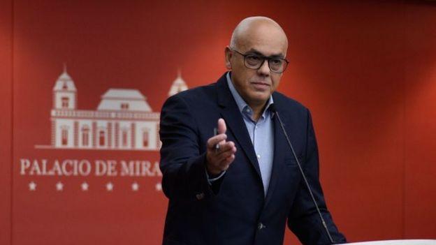 El ministro de Comunicación de Venezuela, Jorge Rodríguez