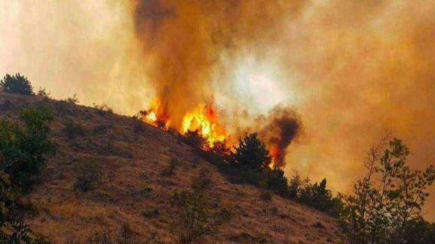 آتش در ارسباران