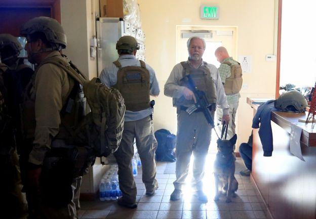 نیروهای امنیتی آمریکایی داخل سفارت