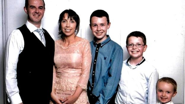 Alan and Clodagh Hawe, and their sons Liam, Niall and Ryan, had been buried together