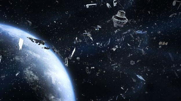 satélite colisión