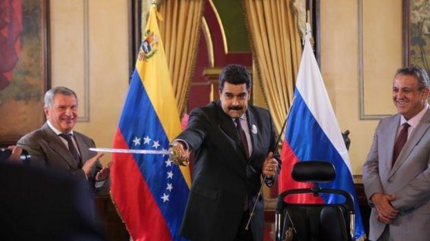 Мадуро и Сечин