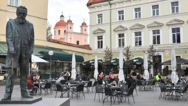 Кафе в центре Вильнюса