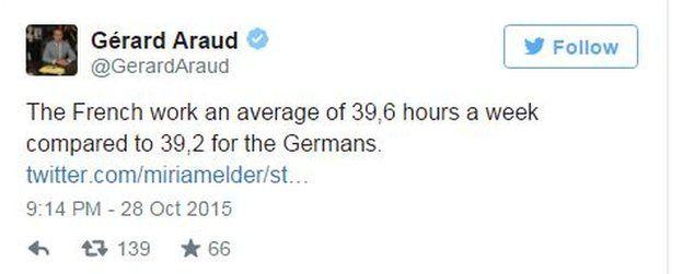 Ambassador of France to the US tweet